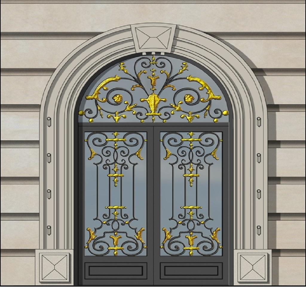 Ferforje Bina Griiş Kapısı